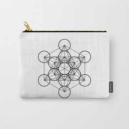 Metatron's Cube, sacred geometry, platonic solids Carry-All Pouch
