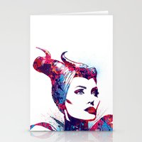 maleficent Stationery Cards featuring Maleficent by lauramaahs