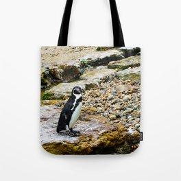 Penguin stare Tote Bag