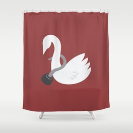 Captain Swan Shower Curtain