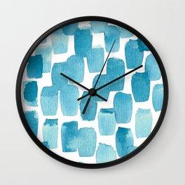 Blue Watercolour Wall Clock