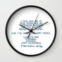 Dirty ex-mistress Wall Clock