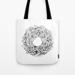 Forest Light Circle Nature Flow Tote Bag