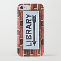 library iPhone & iPod Cases featuring Library by Biff Rendar