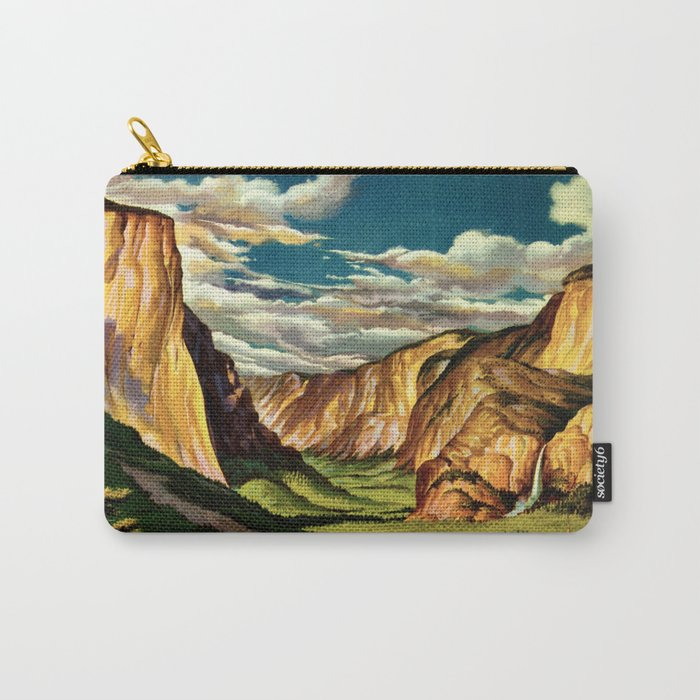 Yosemite National Park - Vintage Travel Carry-All Pouch