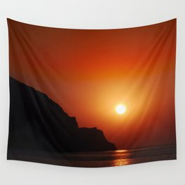 Sunset at the sea landscape Wall Tapestry