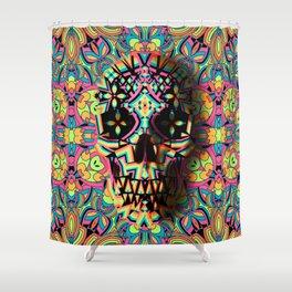 Fancy Skull Shower Curtain