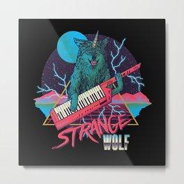 Strange Wolf Metal Print