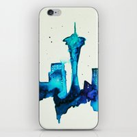 seattle iPhone & iPod Skins featuring Seattle  by Talula Christian