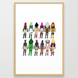 Superheroine Butts Framed Art Print