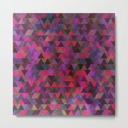 Geometric Pattern X Metal Print