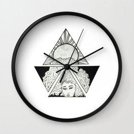 The Night is Dark Wall Clock