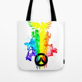Rainbow Hero's Over Watch Tote Bag