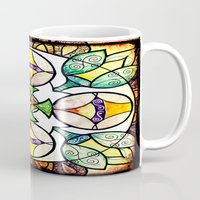 stained glass Mugs featuring Stained Glass by Misrella