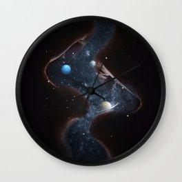 Universe kiss Wall Clock