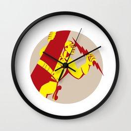 Electrician Power Lineman Telephone Repairman Retro Wall Clock