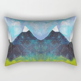 Matterhorn Cirque Mountain Peaks Rectangular Pillow