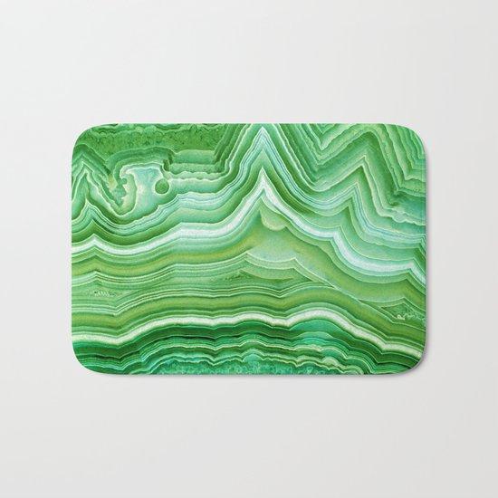 Agate crystal green Bath Mat