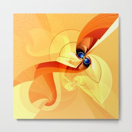 Abstract orange 1 Metal Print