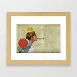 E.A.T   Collage Framed Art Print