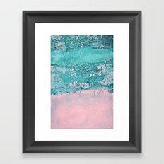 blue wall Framed Art Print