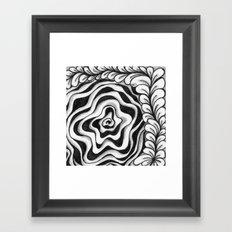 Doodled Rose & Vine Framed Art Print