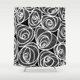 Midnight Roses Shower Curtain