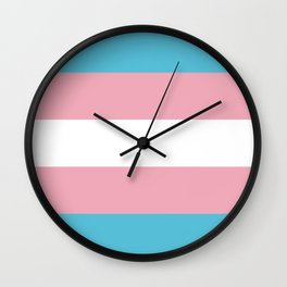 Trans Pride Wall Clock