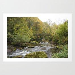 Doone Valley Bridge  Art Print