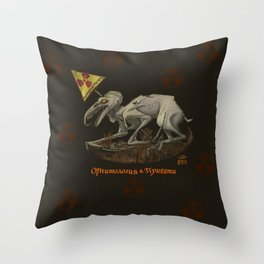Chernobyl Birdwatching Throw Pillow