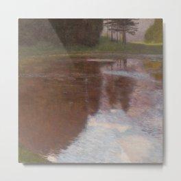 Gustav Klimt - Tranquil Pond Metal Print