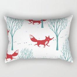 red wolf Rectangular Pillow
