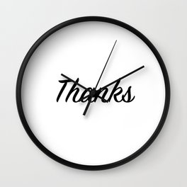 Thanks Wall Clock