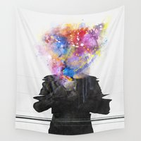 glitch Wall Tapestries featuring Glitch Mob by Daniel Taylor
