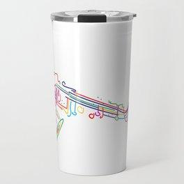 Stylized  saxophone Travel Mug