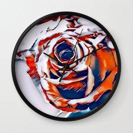 Orange Rose Wall Clock