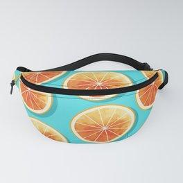 Orange Slices on Blue Fanny Pack