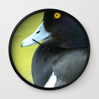 duck Wall Clocks featuring Duck by BlackNYX