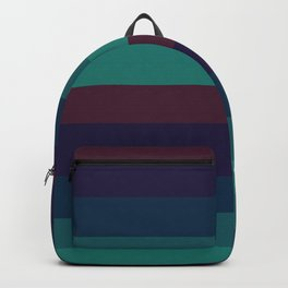 Wummer pastel colours geometric horizontal lines pattern for home decoration Backpack