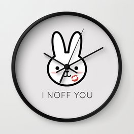 I Noff You Wall Clock