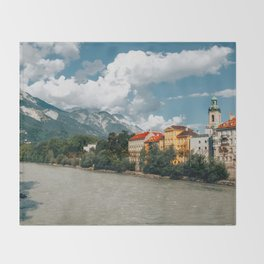 Inn River Innsbruck Throw Blanket