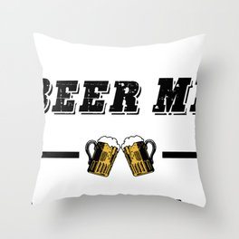 "Retro Vintage ""Beer Me, I'm Going To Be A Dad!"" Throw Pillow"