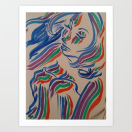 Flow with the Colours Art Print