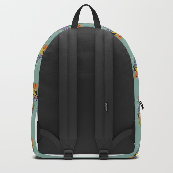 Pirate Boat teal Backpack