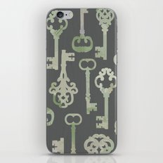Skeleton Key Pattern in Gray iPhone & iPod Skin