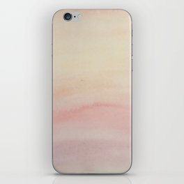 Ombre Blush Pink Watercolor Hand-Painted Effect iPhone Skin