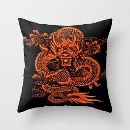Epic Dragon Orange Throw Pillow