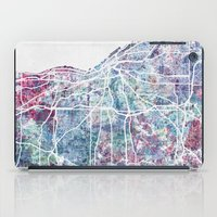 cleveland iPad Cases featuring Cleveland map by MapMapMaps.Watercolors