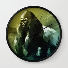 Protector of the Gorilla Domain Wall Clock