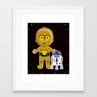 c3po Framed Art Prints featuring C3PO by Jasmine Victoria